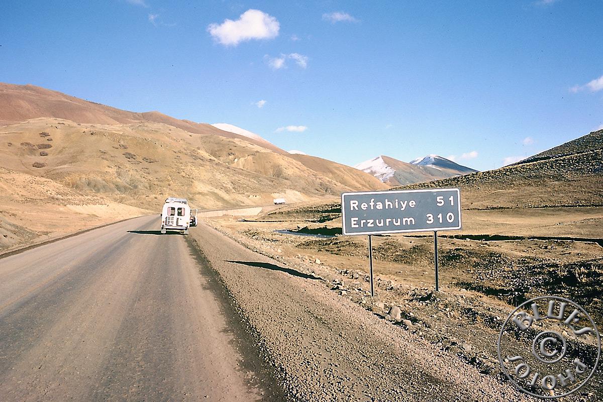 Turquie, route en direction d'Erzurum