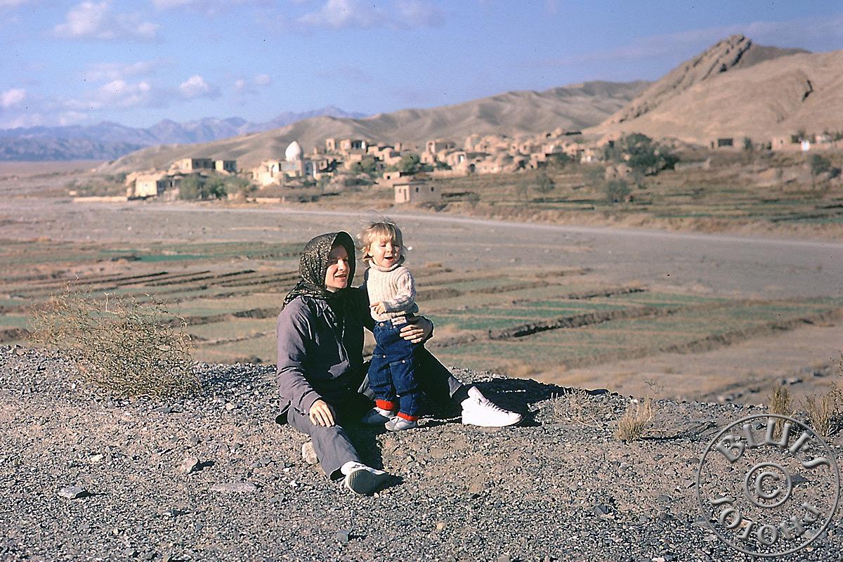Iran, photo famille, pause en route