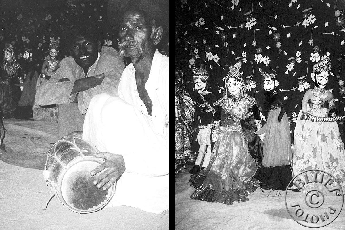 Rajasthan - Pushkar, montreurs de marionnettes