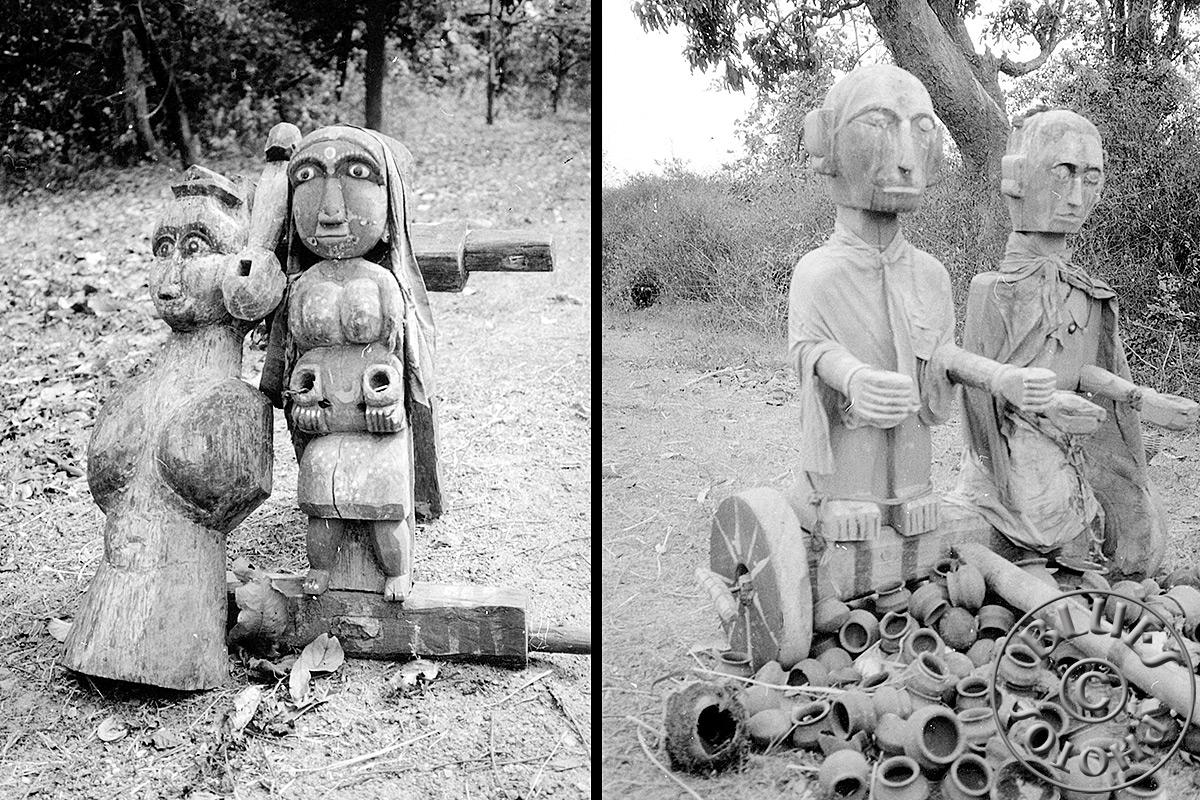 En route pour Mysore, statuettes ...