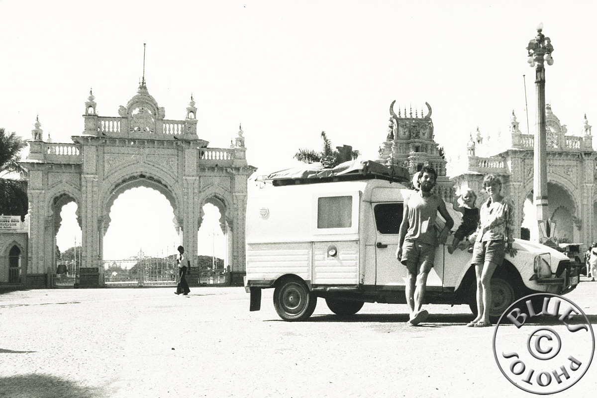 Mysore, la carte postale envoyée à la famille et amis