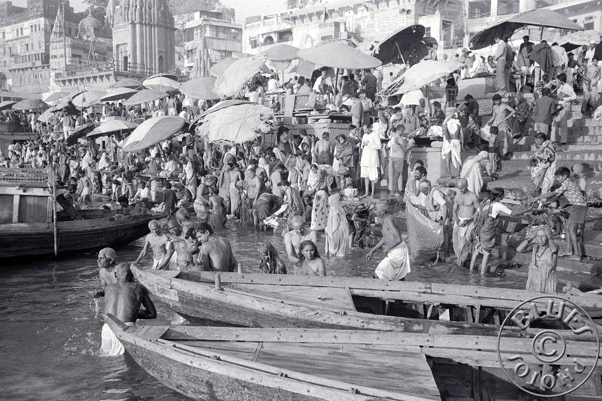 Bénarès, ambiance sur les ghats