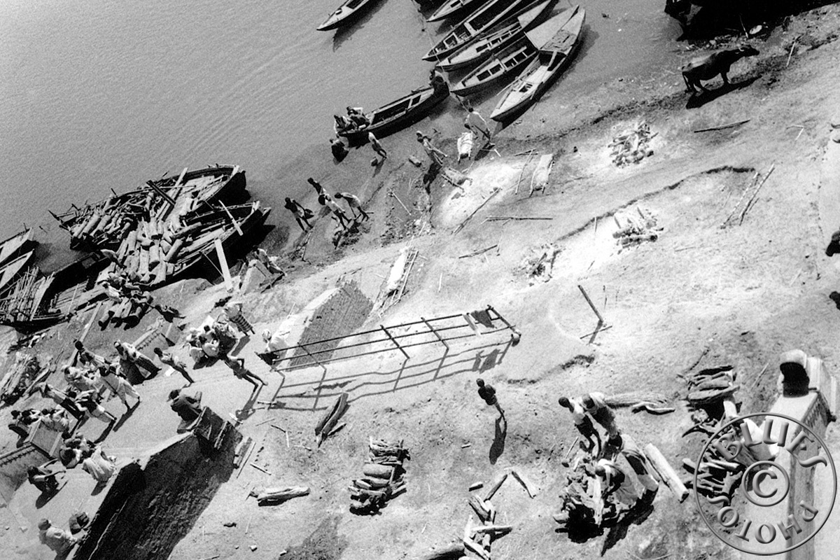 Bénarès, un ghat réservé à la crémation des morts