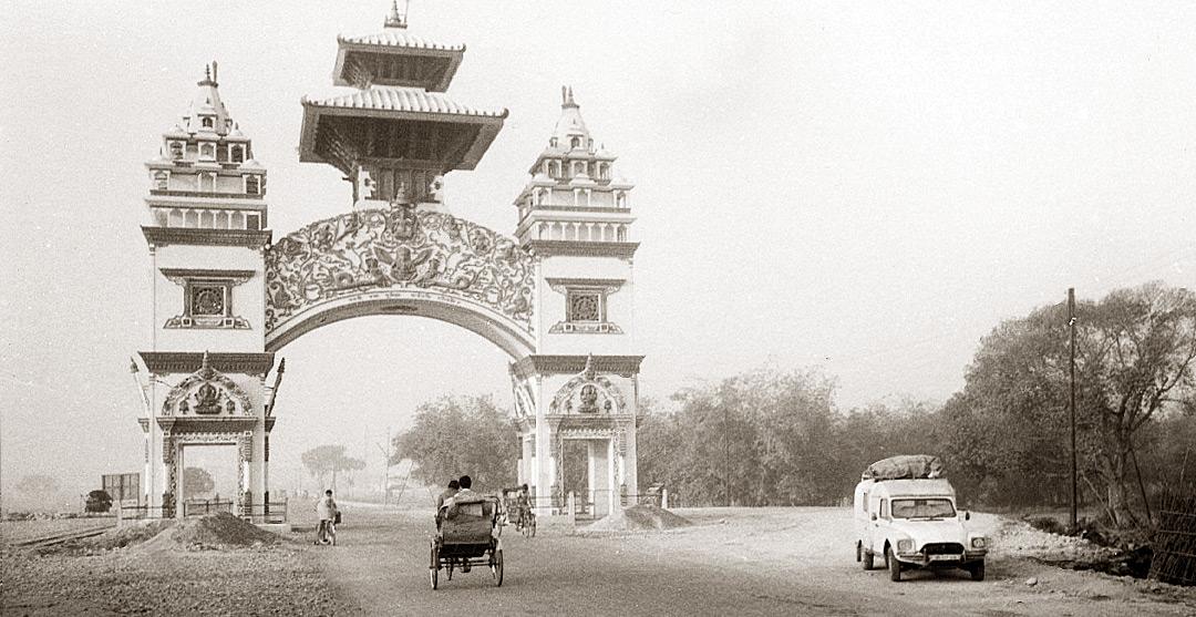 Frontière entres les Indes et le Népal