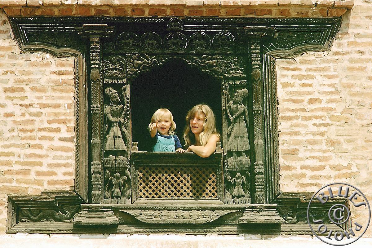 Nepal, Christiane et Julie à Patan