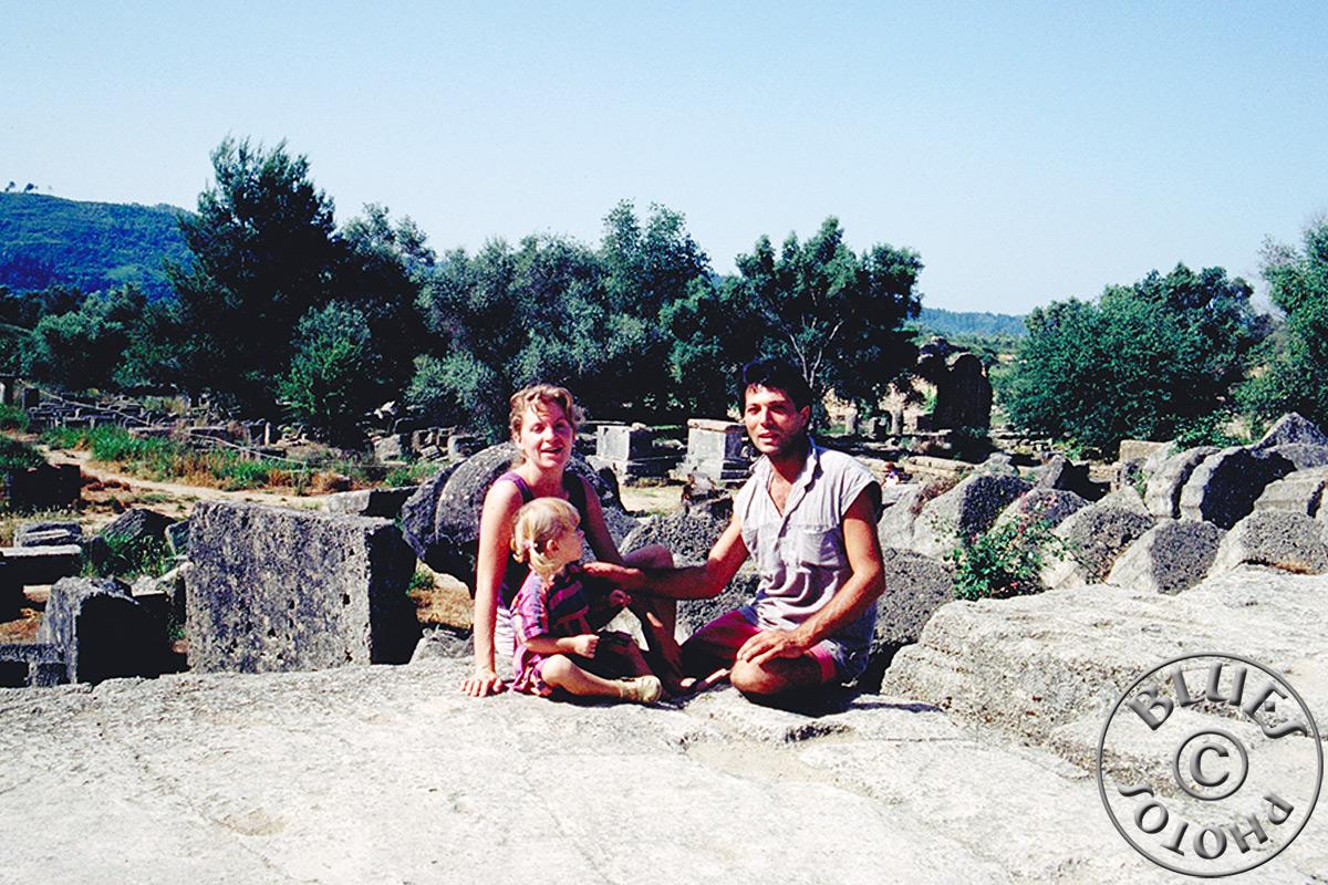 Grèce, juste avant de rentrer, les Chablues à Olympie
